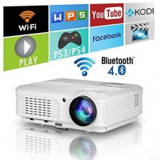 EUG HD Bluetooth Wireless 1080P LED Home Projector HDMI Android LCD Digital Movie Gaming Projector Wifi Airplay Miracast for Iphone Ipad Mac Phone ...