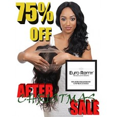 EURO REMY ERECS3007BW-S-N12 Brazilian Virgin 100% Unprocessed Human Hair Extensions 360 Lace Frontal Closure w/Adjustable Straps Bodywave 12 inches...