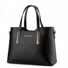 Fashion road Genuine Leather Women's Shoulder Bags Top-Handle Handbag Tote Purse Bag, Black