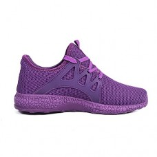 Feetmat Womens Sneakers Ultra Lightweight Breathable Mesh Athletic Running Shoes Plus Size 5.5 Purple