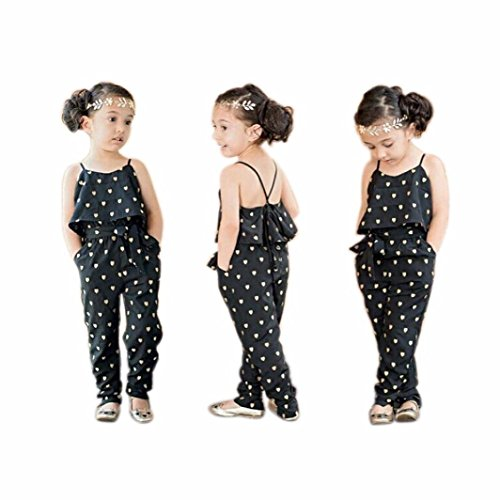 Toddler Kids Baby Girls Bird Pattern Romper Jumpsuit Trousers Summer Clothes