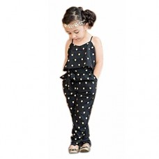 2017 Hot Fashion Toddlers Children Girls Love Heart Straps Jumpsuits by FEITONG (4T(3-4Y), Black)