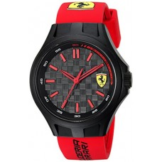 Scuderia Ferrari Men's Quartz Plastic and Silicone Casual Watch, Color:Red (Model: 0840007)