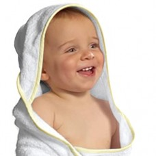 First Big Steps  Bamboo Hooded Towel for Baby, Green, 36 Inch by 36 Inch