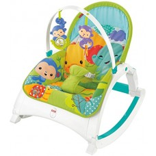 Fisher-Price Newborn-to-Toddler Portable Rocker, Rainforest [Amazon Exclusive]