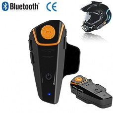 BT-S2 Motorcycle Intercom Helmet Headsets Wireless Bluetooth Interphone Handsfree Waterproof With FM Radio 7 Languages Manual