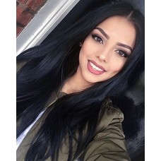 ForQueens Synthetic Long Straight Hair Wigs Black color Full Wig for Women Middle Part Heat Resistant Wigs Long Wigs for Black Women
