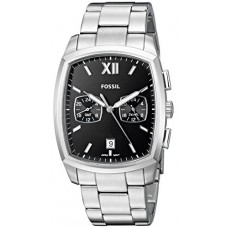 Fossil Men's 'Knox Dual Time' Quartz Stainless Steel Casual Watch, Color:Silver-Toned (Model: FS5358)