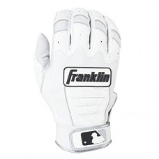Franklin Sports Adult MLB CFX Pro Batting Gloves, Adult Large, Pair, Pear/White