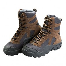 FREE SOLDIER Men's Boots All Terrain Hiking Shoes Suede Leather Winter Tactical Boots (Brown, 10)