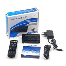 Freesat V7 HD Receptor satellite Decoder 1080P FULL HD DVB-S2 Satellite Receiver Support USB +1pc AV Cable