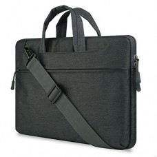 "GADIEMENSS Water-resistant Laptop Shoulder Briefcase Bag Portable Computer case handbag 15.6"" Black"