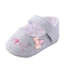 GBSELL Toddler Infant Baby Girl Adorable Crib Soft Sole Shoes Sneakers (Gray, 6~12 Month)