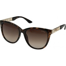 GUESS Womens GF6051 Shiny Havana/Gold/Brown Gradient Lens One Size