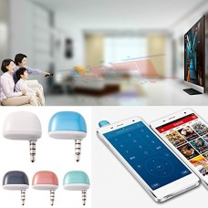 Hacloser Universal 3.5mm Air Conditioner/TV/DVD/STB IR Remote Control For iPhone Android, White
