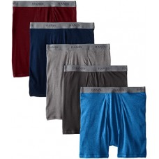 Hanes Ultimate Men's 5-Pack FreshIQ Dyed Boxer Brief - Colors May Vary, Assorted Colors, X-Large