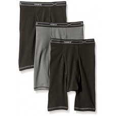 Hanes Men's 3-Pack X-Temp Comfort Cool Long Leg Boxer Brief, Assorted, Large