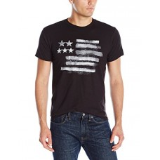 Hanes Men's Graphic Tee-Americana Collection, Black/White Flag/Black, Large