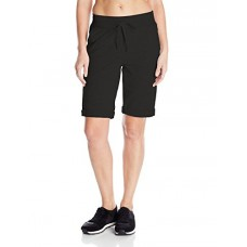 Hanes Women's French Terry Bermuda Short, Black, XX-Large