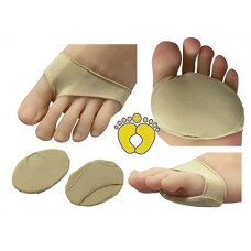 HappyFeet Premium Ball of Foot Metatarsal Cushions - Forefoot, Arthritis, Tendonitis, Diabetic Foot Pain (Small)