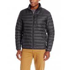 Hawke & Co Men's Packable Down Jacket Hidden Hood, Black, L