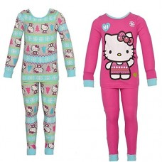 Hello Kitty Big Girls' 2 For 1 Cotton Set, Multi, 4