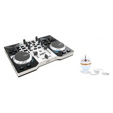 HERCULES INSTINCT S PARTY PACK ultra-mobile USB DJ Controller with Audio Outputs for use with your Headphones and your Speakers + Stand-alone 3-wat...