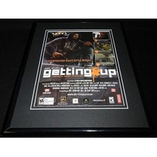 Marc Ecko Getting Up 2006 PS2 Framed 11x14 ORIGINAL Vintage Advertisement