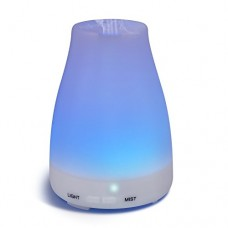 Homeweeks 100ML Auto Off Ultrasonic diffuser LED Colorful Night-Ligting Aroma Mist Maker Home&Office Essential (D)