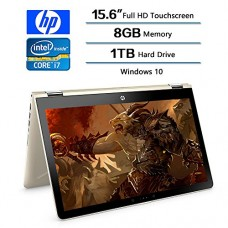 2018 HP Flagship Convertible 2-in-1 15.6 inch Touchscreen FHD IPS Laptop (1920 x 1080), Intel Core i7 8550U (Up to 4GHz), 1TB Hard Drive, 8GB Memor...