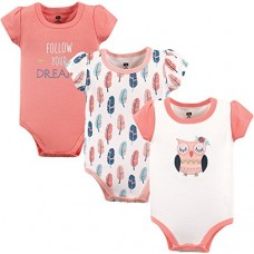 Hudson Baby Baby Infant Cotton Bodysuits, Follow Your Dreams 3 Pack, 12-18 Months