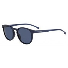 BOSS by Hugo Boss Men's Boss 0922/s Polarized Oval Sunglasses, Strip Blu, 51 mm