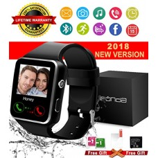 Bluetooth Smart Watch With Camera Touch Screen Smartwatch Unlocked Smart Wrist Watch With Sim Card Slot Fitness Tracker For Android Smartphone Sams...