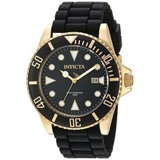 Invicta Men's 'Pro Diver' Quartz Stainless Steel and Silicone Casual Watch, Color:Black (Model: 90303)