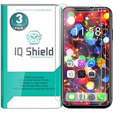 iPhone X Screen Protector (3-Pack), IQ Shield Tempered Ballistic Glass Screen Protector for iPhone X/iPhone 10 2017 [Case Friendly] [Easy Install] ...
