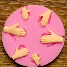 Hiquty 3D Silicone 6pcs Palm Cake Mold Fondant Chocolate Mould