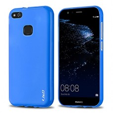 Huawei P10 Lite Case, J&D [Drop Protection] [Slim Cushion] [Lightweight Bumper] Shock Resistant Protective TPU Slim Case for Huawei P10 Lite - Blue
