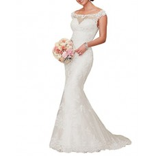 JinXuanYa Woman's New Noble Sweetheart Beaded Lace Wedding Dresses Bridal Gowns(US12, White)