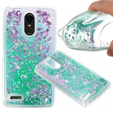 LG Stylo 3 Case, LG Stylo 3 Plus Liquid Case, KAMII 3D Sparkle Moving Stars Bling Glitter Floating Dynamic Flowing Soft Rubber TPU Gel Rubber Clear...