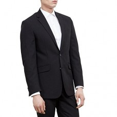 Kenneth Cole REACTION Men's Black Solid Suit Separate Jacket,  Black, 46 R