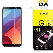 [6 Pack] Khaos For Samsung Galaxy S8 Active HD Clear Tempered Glass Screen Protector , with Lifetime Replacement Warranty