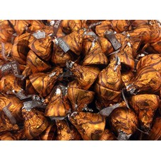 Kisses Pumpkin Spice Flavored Chocolates Candy, Orange Foil (Pack of 2 Pound)