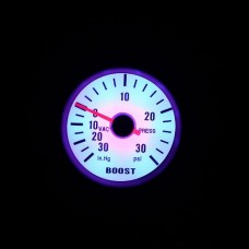 "KKmoon Turbo Boost Vacuum Press Gauge Meter for Auto Car 2"" 52mm 0~30in.Hg / 0~30PSI Blue LED Light"
