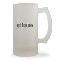 got hombre? - 16oz Sturdy Glass Frosted Beer Stein