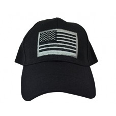 US American Flag Military Tactical Operator Baseball Cap. One Size Fits All Adjustable Cap. Comfortable Lightweight Hat with Embroidered Flag (Black)