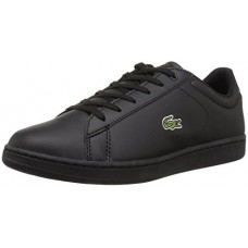 Lacoste Kids' Carnaby EVO Sneakers,Black On Black 100% Synthetic(Polyester Based PU),5.5 M US Big Kid