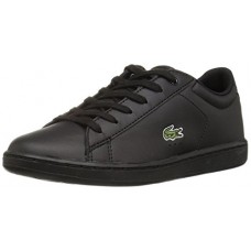 Lacoste Kids' Carnaby EVO Sneakers,Black On Black Synthetic,2 M US Little Kid
