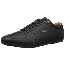 Lacoste Men's Evara Sneakers,Black/DKGRY Synthetic,13 M US