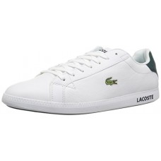 Lacoste Men's Graduate LCR3 Sneakers,Green Leather,9.5 M US