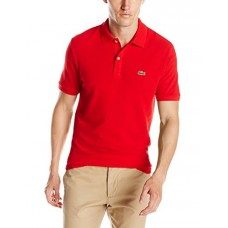 Lacoste Men's Short Sleeve Classic Pique Slim Fit Polo Shirt, Red, 3